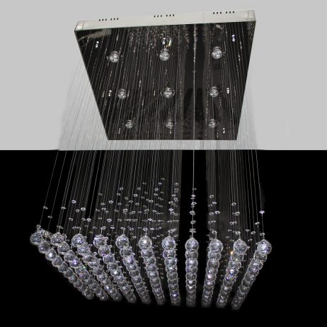 Box Pyramid 800mm String Chandelier - CRP1016