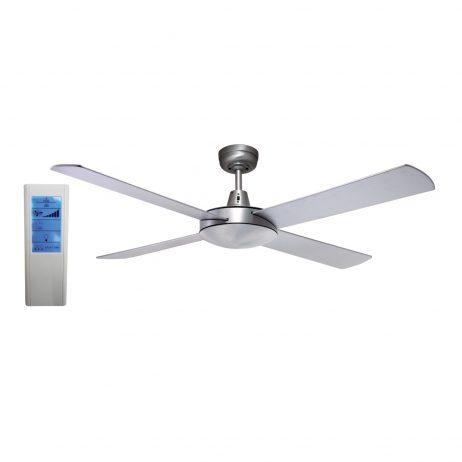 Genesis 52'' Brushed Aluminum Ceiling Fan + WH Touch Pad Remote - GEN52B - TWHRem