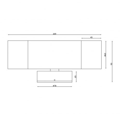 Aluminium Black Exterior Up and Down Dimensions - EXTUPDWNBLK