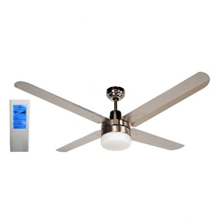 BLIZZARD52'' 1300mm 316SS Ceiling Fan with Light + Touch Pad WH Remote - BLIZZARD52''wl - TWHRem