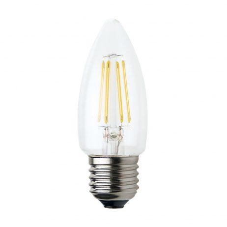 Candle E27 4W LED Globe Clear - LEDCAN4WE27CL - PW - CW - WW