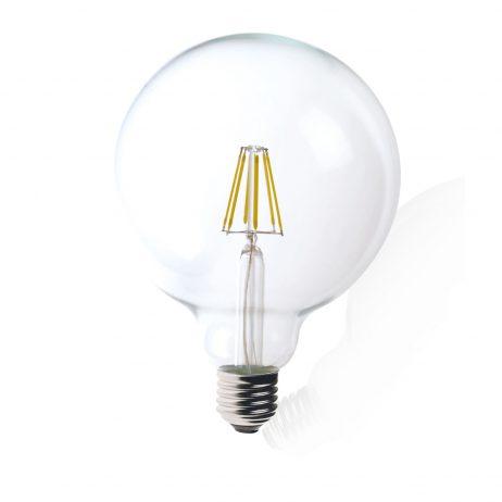 G125 E27 6W LED Globe Clear - LEDG1256WE27CL - PW - CW - WW