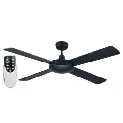 Genesis 52'' Black Ceiling Fan + Remote - GEN52BLK - Rem