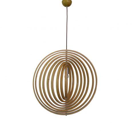 Helical 300 Wooden Pendant Light - P1209HEL30WDN