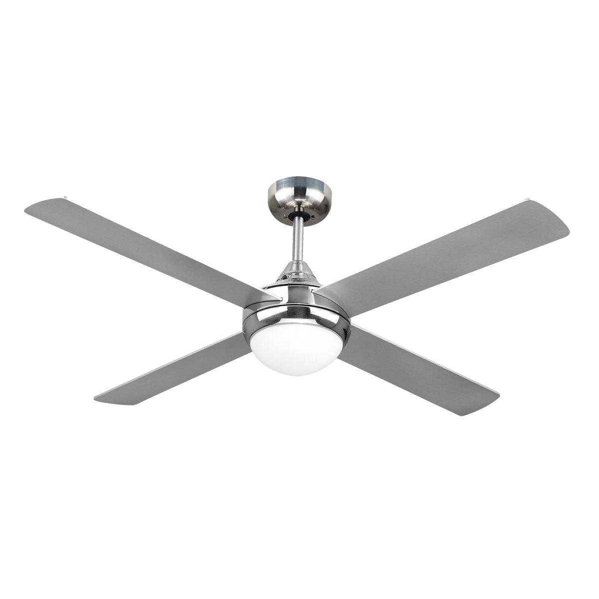 Revolve 48 Inch Ceiling Fan Brushed Chrome With Light