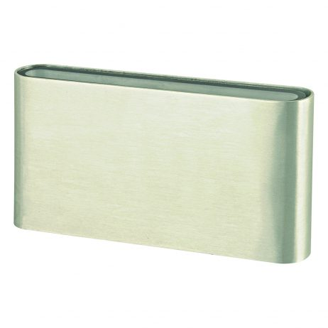 Micro Maxi LED Outdoor Brushed Chrome Wall Light - EXTLED1011