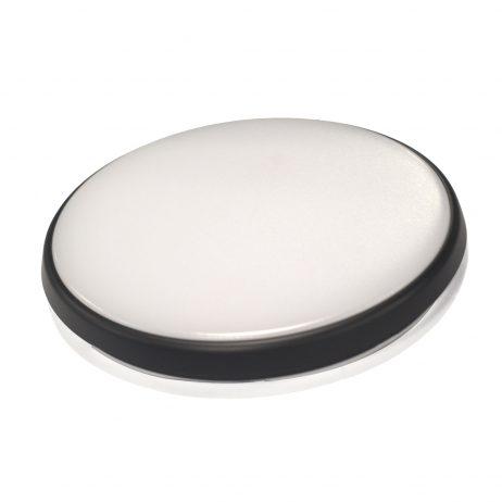 Round 28W LED Ceiling Light - Black Frame in Warm White - LEDOYS28WRNDBLWW