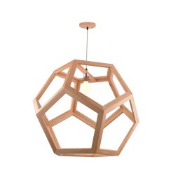 Cage 750 Wooden Pendant Light - P1231CAGE75WDN