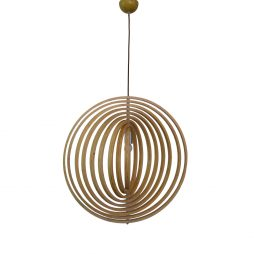 Helical 400 Wooden Pendant Light - P1211HEL40WDN